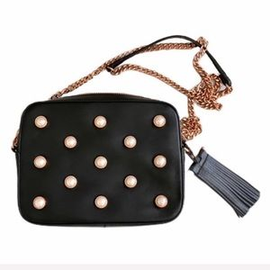 Ted Baker pearl embellished leather Alessia bag